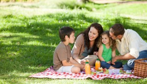 family-picnic-outdoors-meals-summer